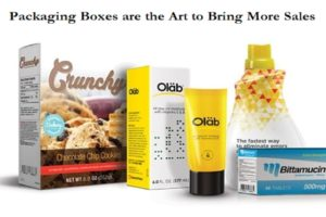 Packaging Boxes are the Art to Bring More Sales