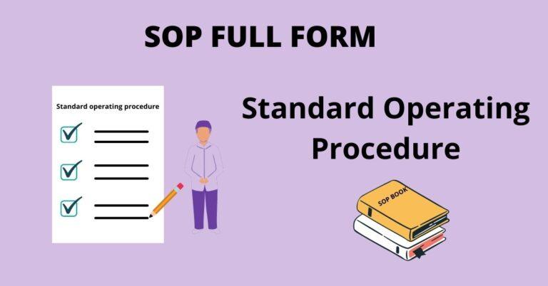 SOP-FULL-FORM